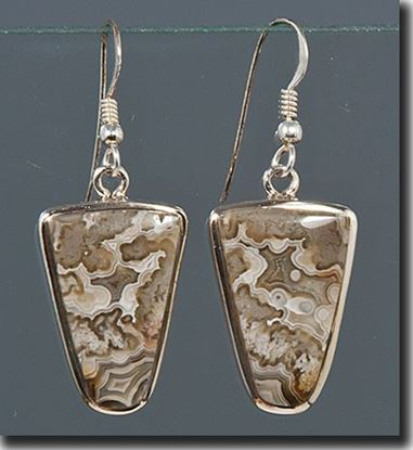 Mexican Crazy Lace Agate Earrings