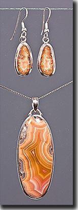 Laguna Agate Earrings & Pendant