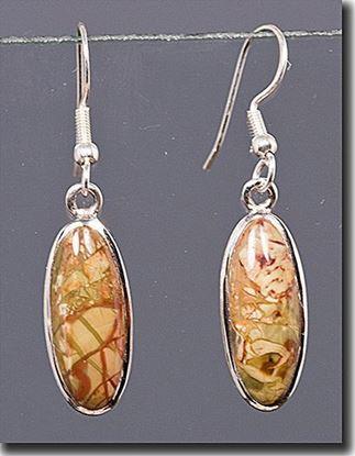 Oregon Morrisonite Jasper Silver Earrings