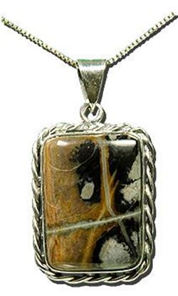 Picasso Marble silver pendant