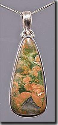 Australian Rainforest Jasper Silver Pendant