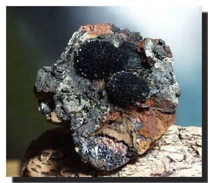 Vivianite mineral specimen from the Ukraine
