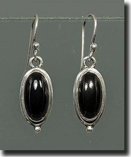 Black Onyx Sterling Earrings