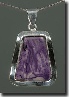 Tiffany Stone Silver Pendant