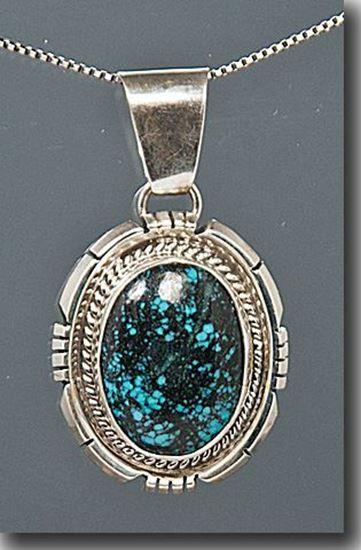 Nevada Blue Turquoise Pendant